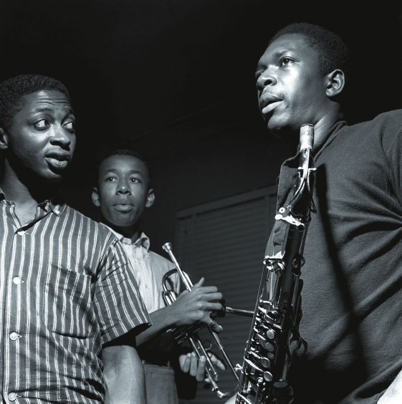 John Coltrane with Curtis Fuller and Lee Morgan, Van Gelder Studio, Hackensack, NJ 1957
