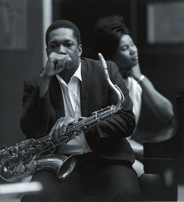 John Coltrane with Alice Coltrane, Van Gelder Studio, Englewood Cliffs, NJ 1966