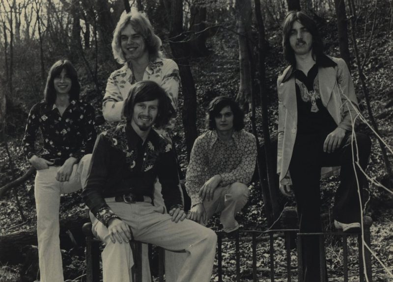 John Leitham (far left) in the rock band Egdon Heath