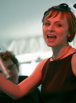 Kat Edmonson performs in the Jazz Café tent
