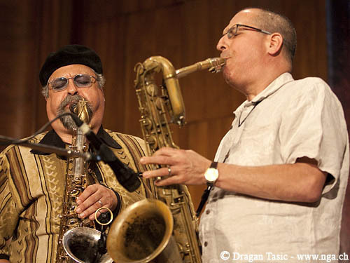 Joe Lovano & Gary Smulyan at Belgrade 2009 (Photo: Dragan Tasic)