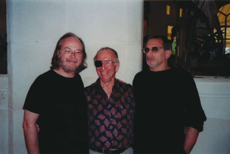 Photo of Walter Becker with Mort Fega and Donald Fagen