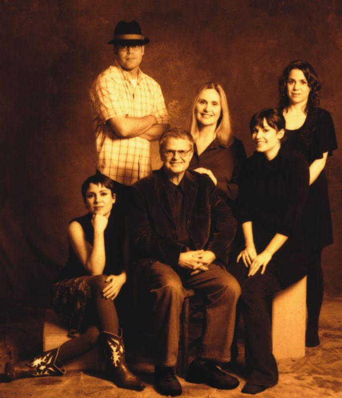 The Haden family (clockwise from top): Josh Haden, Ruth Cameron Haden, Petra Haden, Tanya Haden Black, Charlie Haden, Rachel Haden