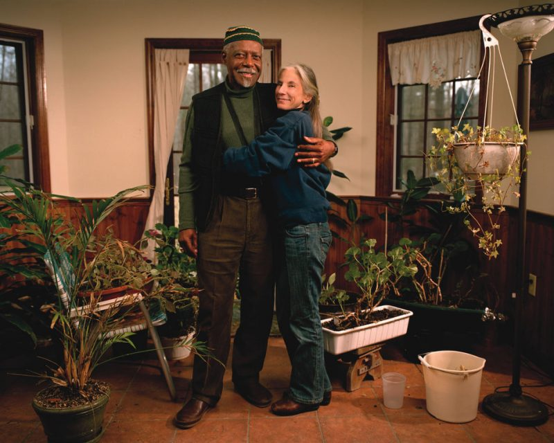 """David """"Fathead"""" Newman with his wife Karen at their home"""