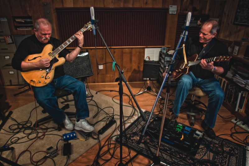 L to R: John Abercrombie and Joe Beck