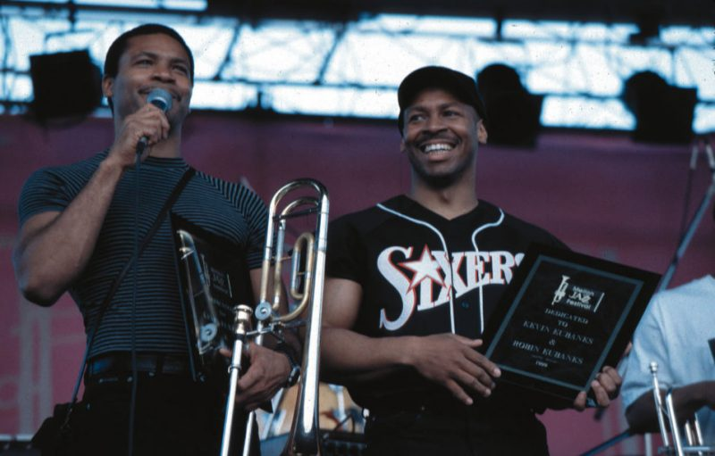 The 1999 Mellon Jazz Festival in Philadelphia was dedicated to Robin and Kevin Eubanks.  They received commemorative plaques after their performance at Penn's Landing.