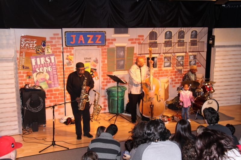 Arpeggio Jazz Ensemble in performance at Junior Jazz Festival