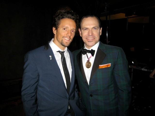 Kurt Elling with Jason Mraz at 2010 Grammy Awards