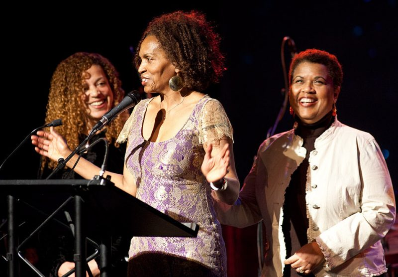 Kimberly Reason, Kay Bailey and Karen Shivers, accepted their award for Earshot Jazz's prestigious Golden Ear Award for 2009 Northwest Vocalist of the Year for their group COCOA MARTINI and they thanked everyone including the members of their group, Bil