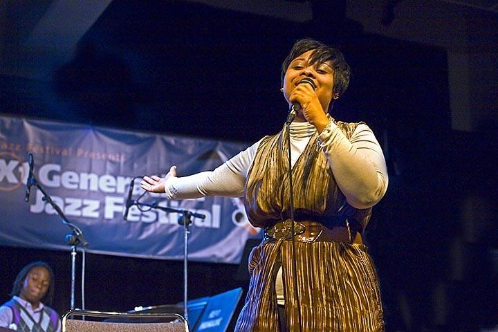 Nadia Washington in clinic at Next Generation Jazz Festival in Monterey