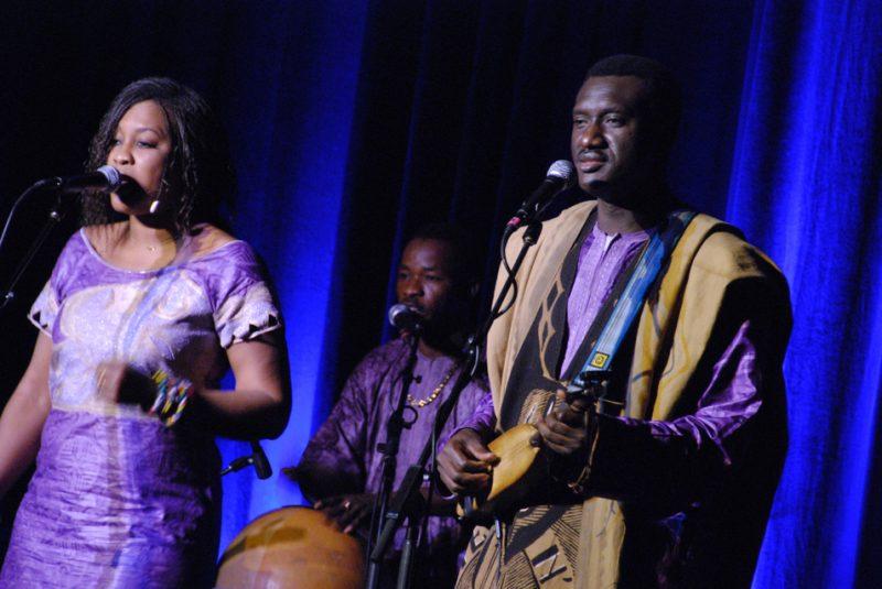 Amy Sacko and Bassekou Kouyate at the Savannah Music Festival