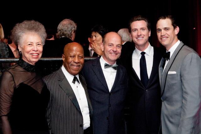 Del Handy, John Handy, Kevin Causey, Mayor Gavin Newsom, Robert Mailer Anderson