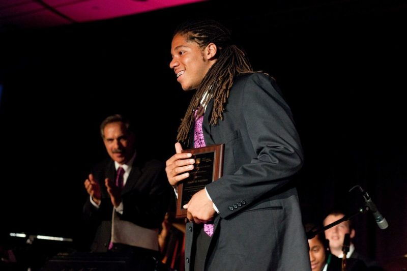 SFJAZZ High School All-Star Malachi Whitson, winner of the Award of Excellence
