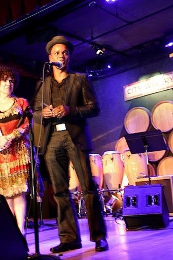 Stefon Harris at JJA awards in NYC