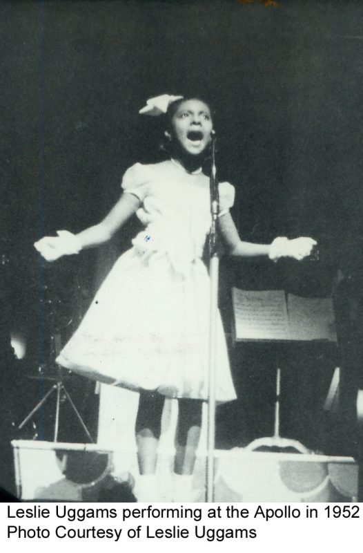 Leslie Uggams performing at the Apollo in 1952