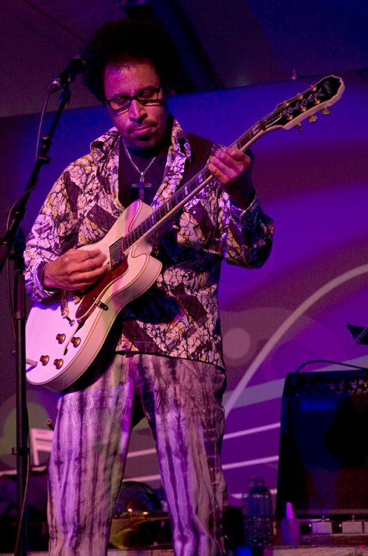 Renard Poche performing with Allen Toussaint at Toronto International Jazz Festival