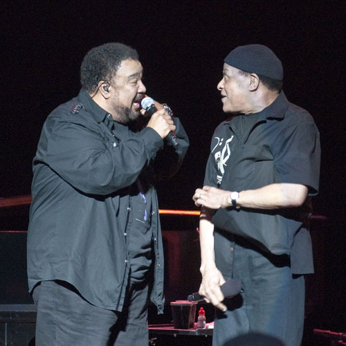 George Duke and Al Jarreau at Freihofer Jazz Festival at Saratoga Springs