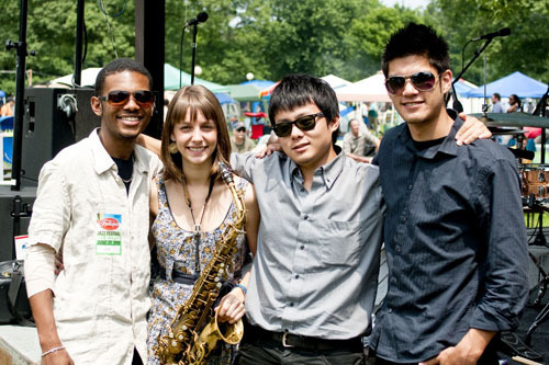 Hailey Niswanger Quartet at Freihofer Jazz Festival at Saratoga Springs