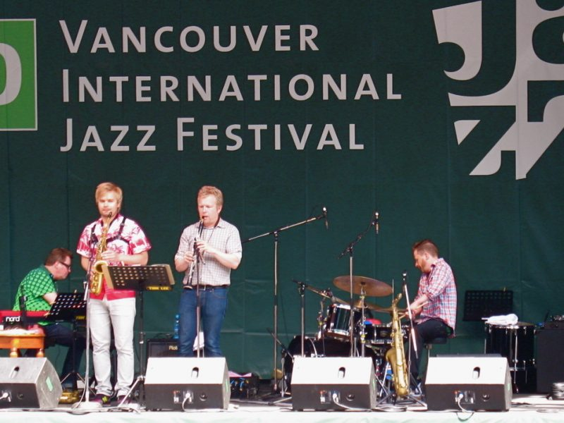 Mikko Innanen and Innkvisitio performing at  2010 TD Vancouver International Jazz Festival