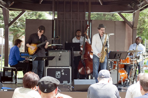 Kendrick Scott & Oracle at Freihofer's Jazz Festival at Saratoga Springs