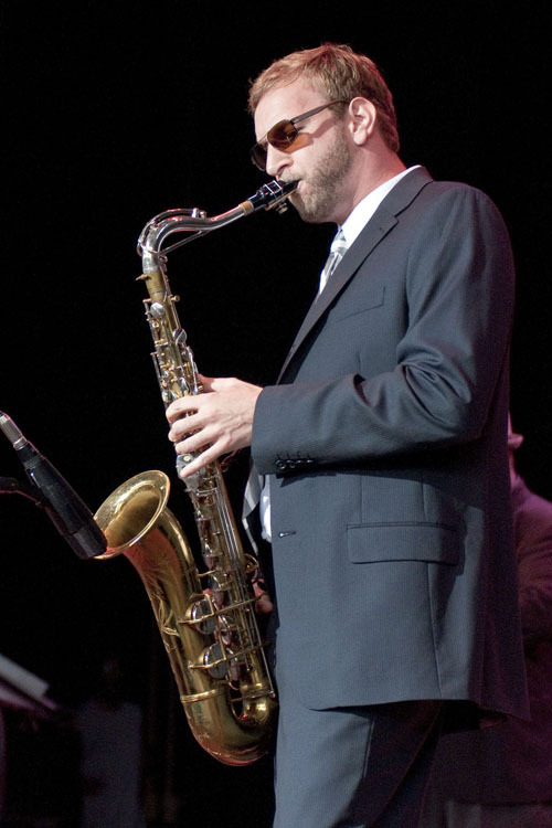 Josh Atkin of Mario Abney Quartet at Freihofer's Jazz Festival at Saratoga Springs