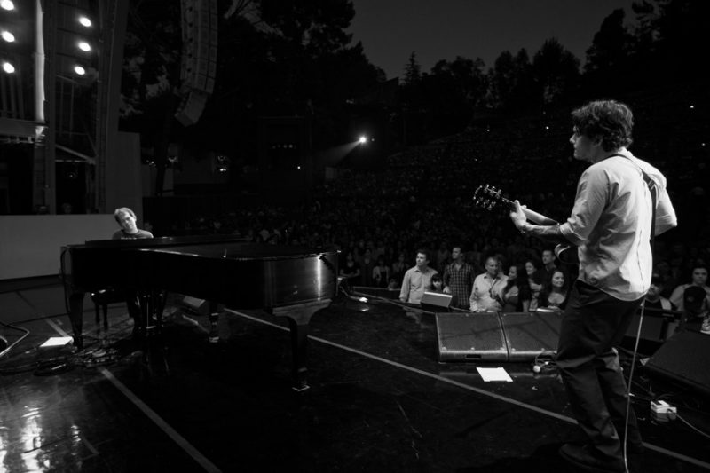 Brad Mehldau and John Mayer performing at Hollywood Bowl