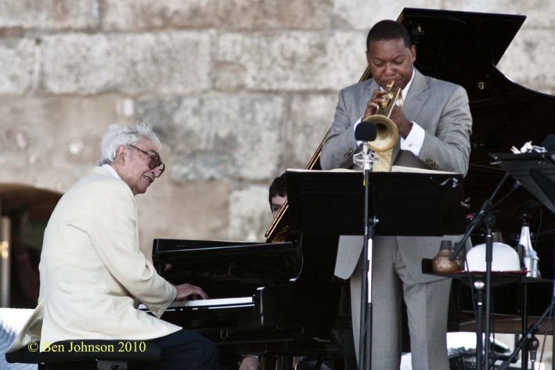 Dave Brubeck and Wynton Marsalis at CareFusion Newport Jazz Festival