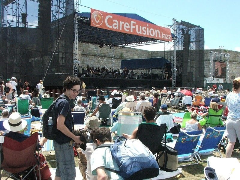 Crowd at Fort Adams stage at CareFusion Newport Jazz Festival
