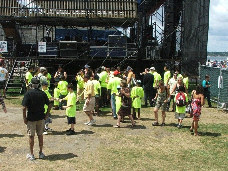 Student from Jazz Is a Rainbow Project backstage at CareFusion Newport Jazz Festival