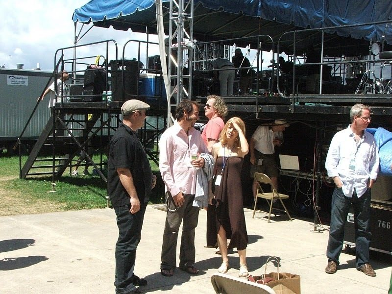 Maria Schneider with fellow musicians backstage at CareFusion Newport Jazz Festival