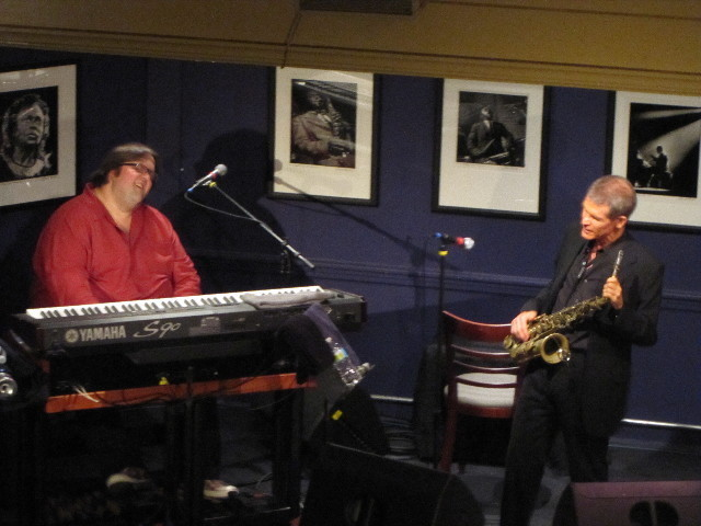 Joey DeFrancesco and David Sanborn in performance at Jazz at the Bistro