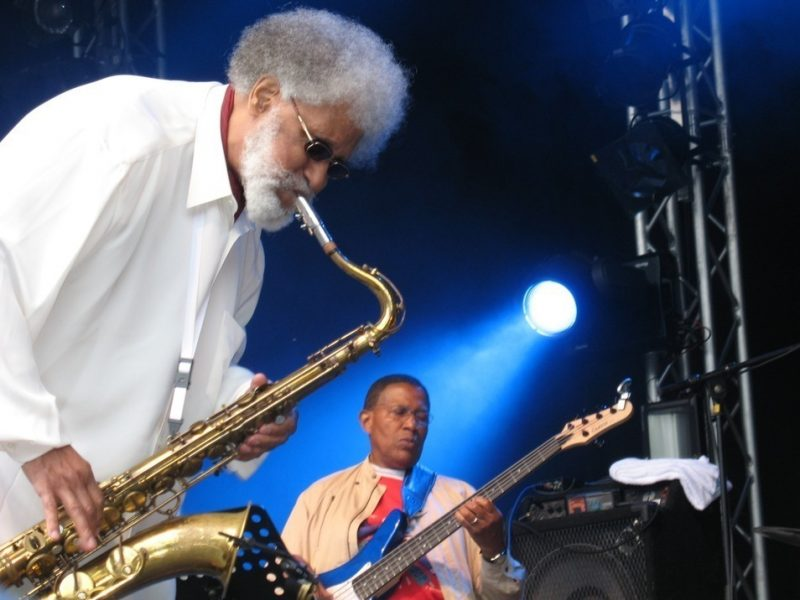 Sonny Rollins and Bob Cranshaw at the Molde Jazz Festival in Norway