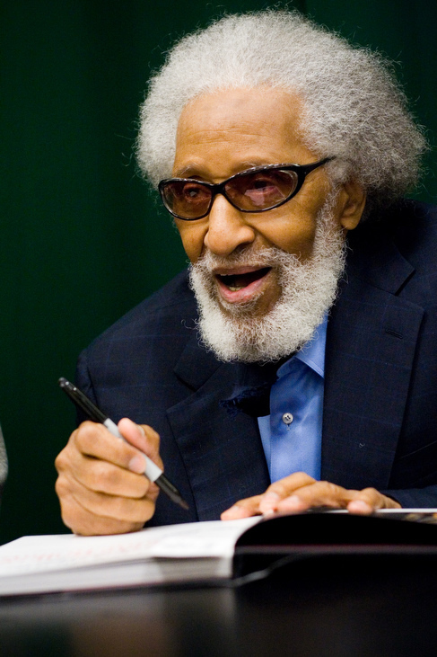 Sonny Rollins at Saxophone Colossus book signing in NYC