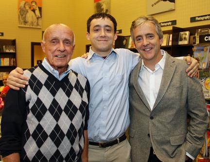 Ward, Sam and John Abbott at Saxophone Colossus book signing in NYC