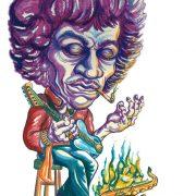 illustration of Jimi Hendrix image 0