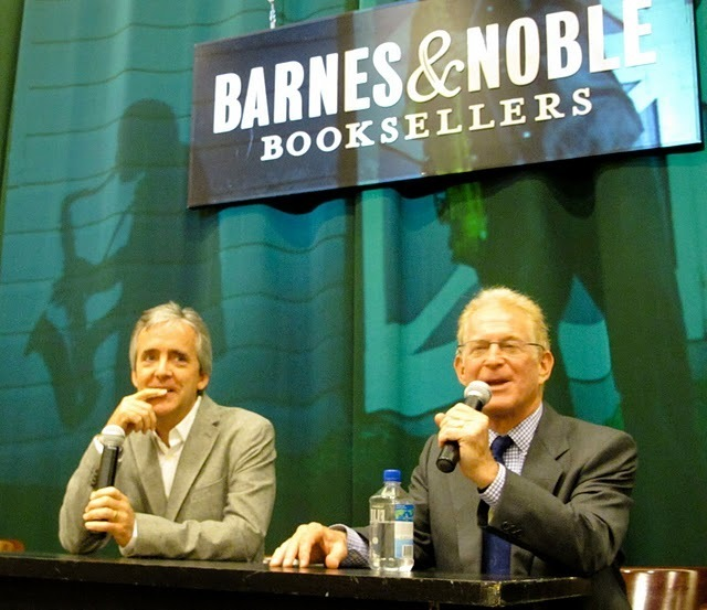 John Abbott and Bob Blumenthal at Saxophone Colossus book signing in NYC
