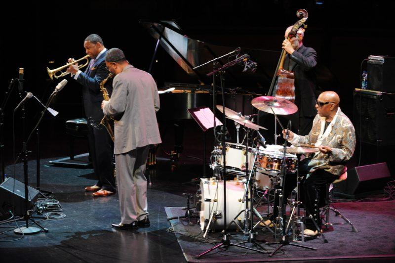 Wynton Marsalis, Kenny Garrett and Dave Holland with Roy Haynes at Jazz at Lincoln Center