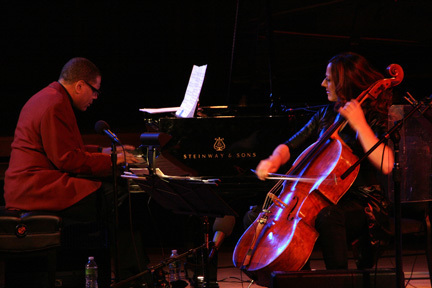 Donal Fox and Maya Beiser at 2010 Tanglewood Jazz Festival