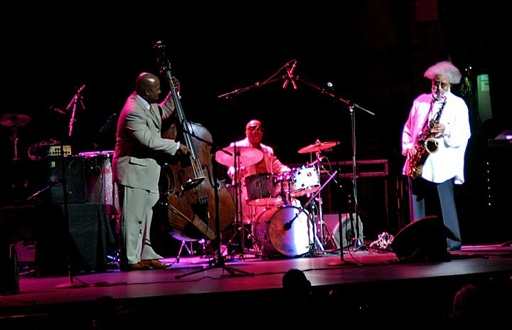 Christian McBride, Roy Haynes and Sonny Rollins in performance at Beacon Theatre