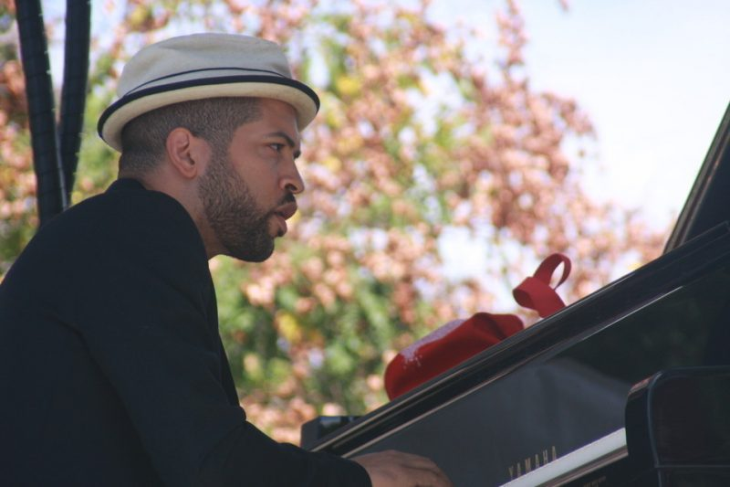 Jason Moran performs with the Bandwagon at the 2010 Rosslyn Jazz Festival