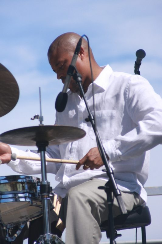 Nasheet Waits performs with Bandwagon at the 2010 Rosslyn Jazz Festival