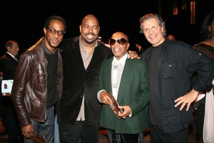 (l-r) Brian Blade, Christian McBride, BNY Mellon Jazz 2010 Living Legacy Award Recipient Roy Haynes, and Chick Corea. Photo by Valerie Russell