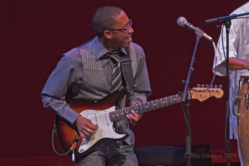 Cameron John Ward performing with Hugh Masekela