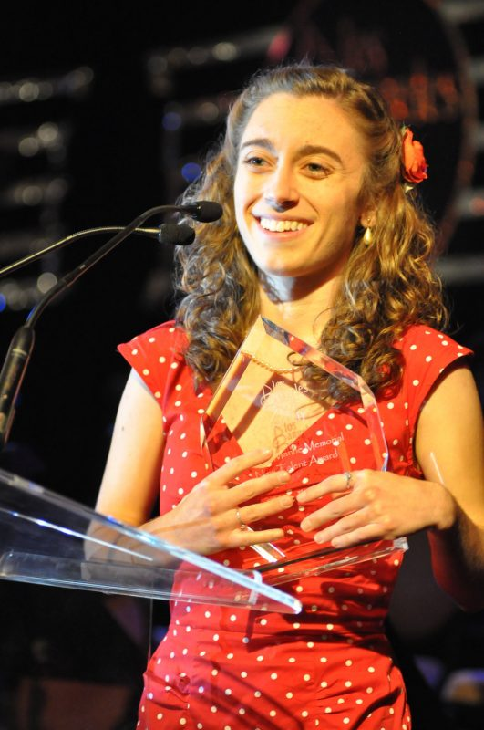 """Chloe Feoranzo, winner of the """"Shelly Manne Memorial New Talent Award"""" from the Los Angeles Jazz Society"""