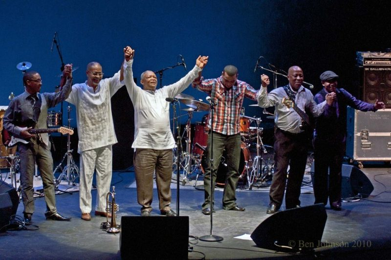 Hugh Masekela and band