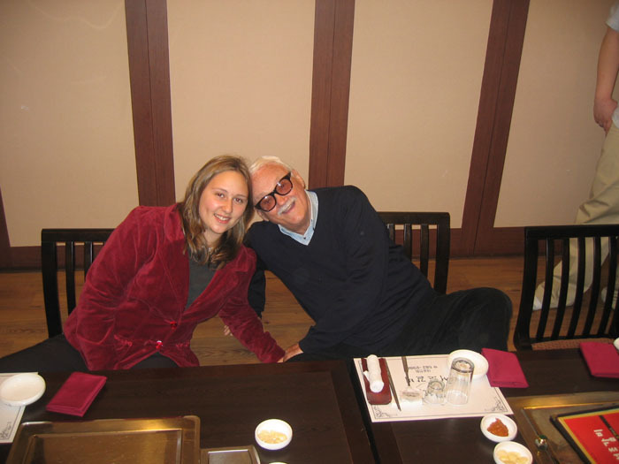 Katheryn Werner with Toots Thielemans in Korea