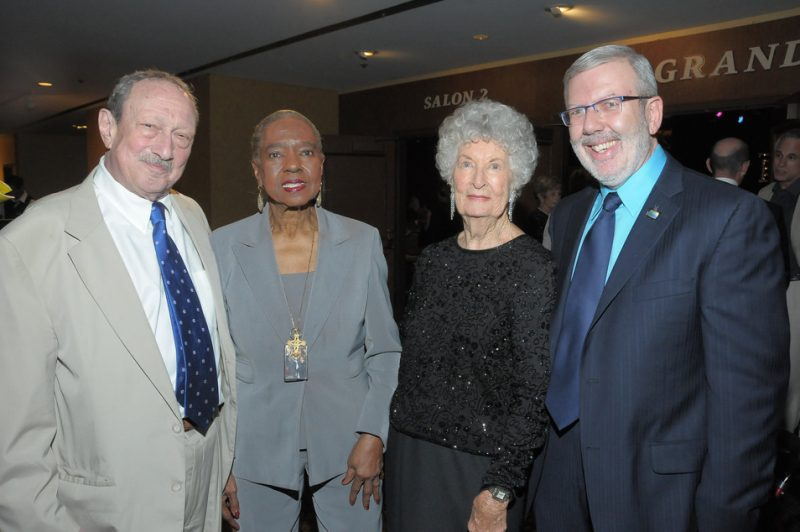 Mike Melvoin, Linda Hopkins, Florence Manne and Leonard Maltin at Los Angeles Jazz Society Annual Dinner and Concert