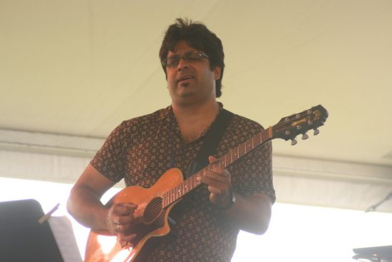 Rez Abbasi performing  with his Acoustic Quartet at CareFusion Newport Jazz Festival 2010 image 0