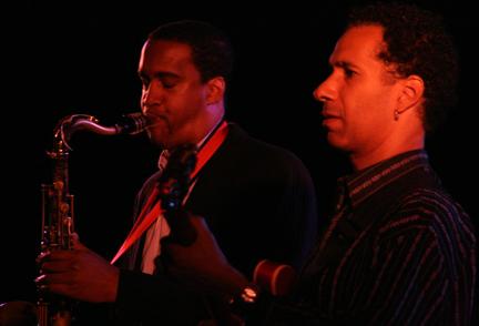 Javon Jackson and David Gilmore at 2010 Cape May Jazz Festival
