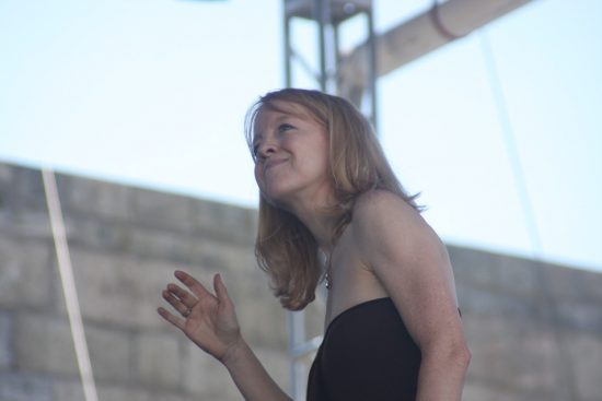 Maria Schneider conducting her Orchestra at the CareFusion Newport Jazz Festival 2010 image 0